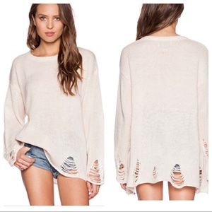 NWT! Wildfox Couture Lennon Sweater iVintage Lace